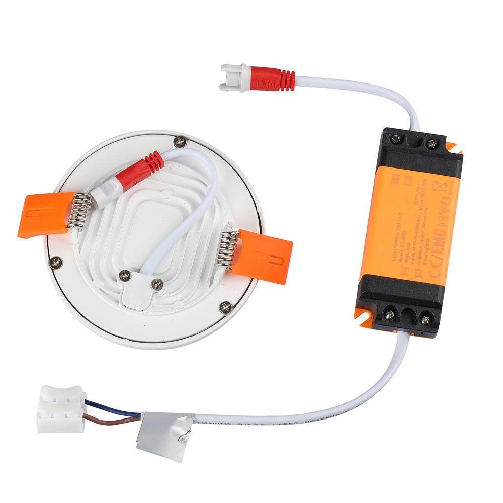 Panou Slim LED 8W, Rotund, 3000K