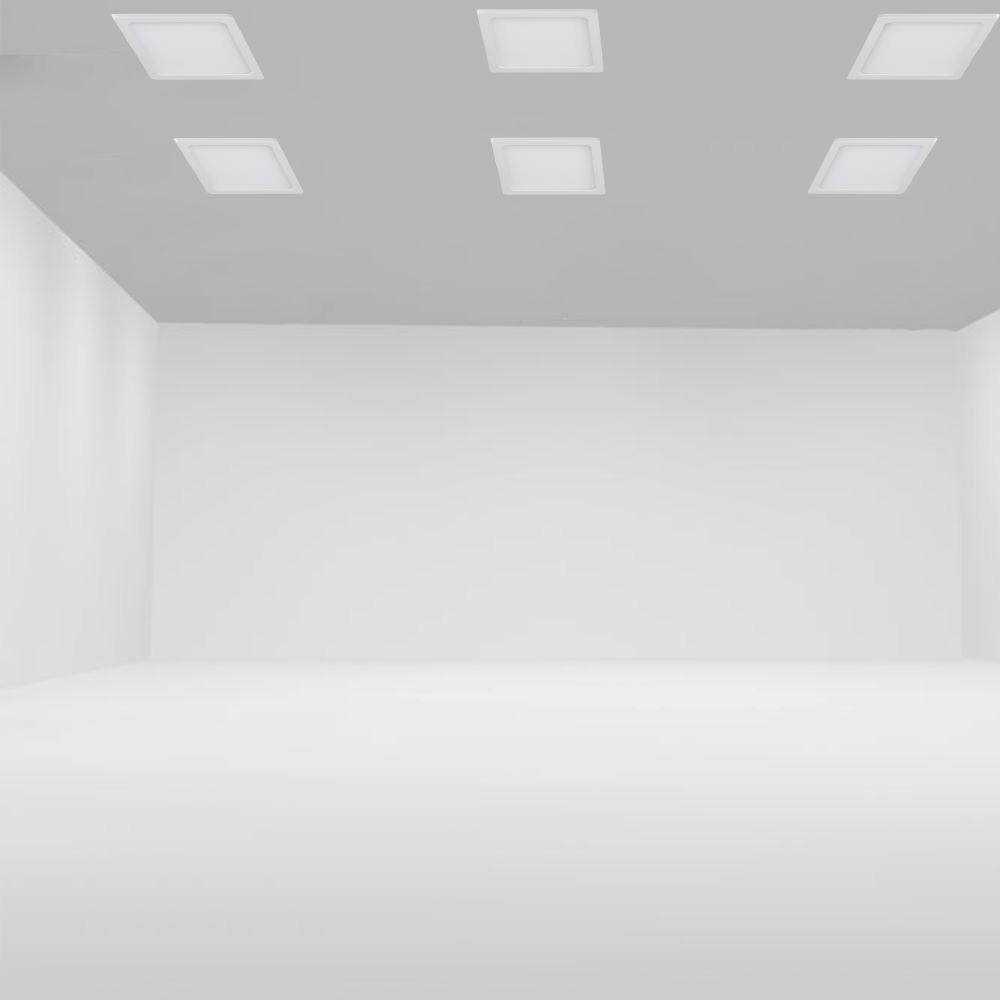 Panou Slim LED 8W, Patrat, 3000K