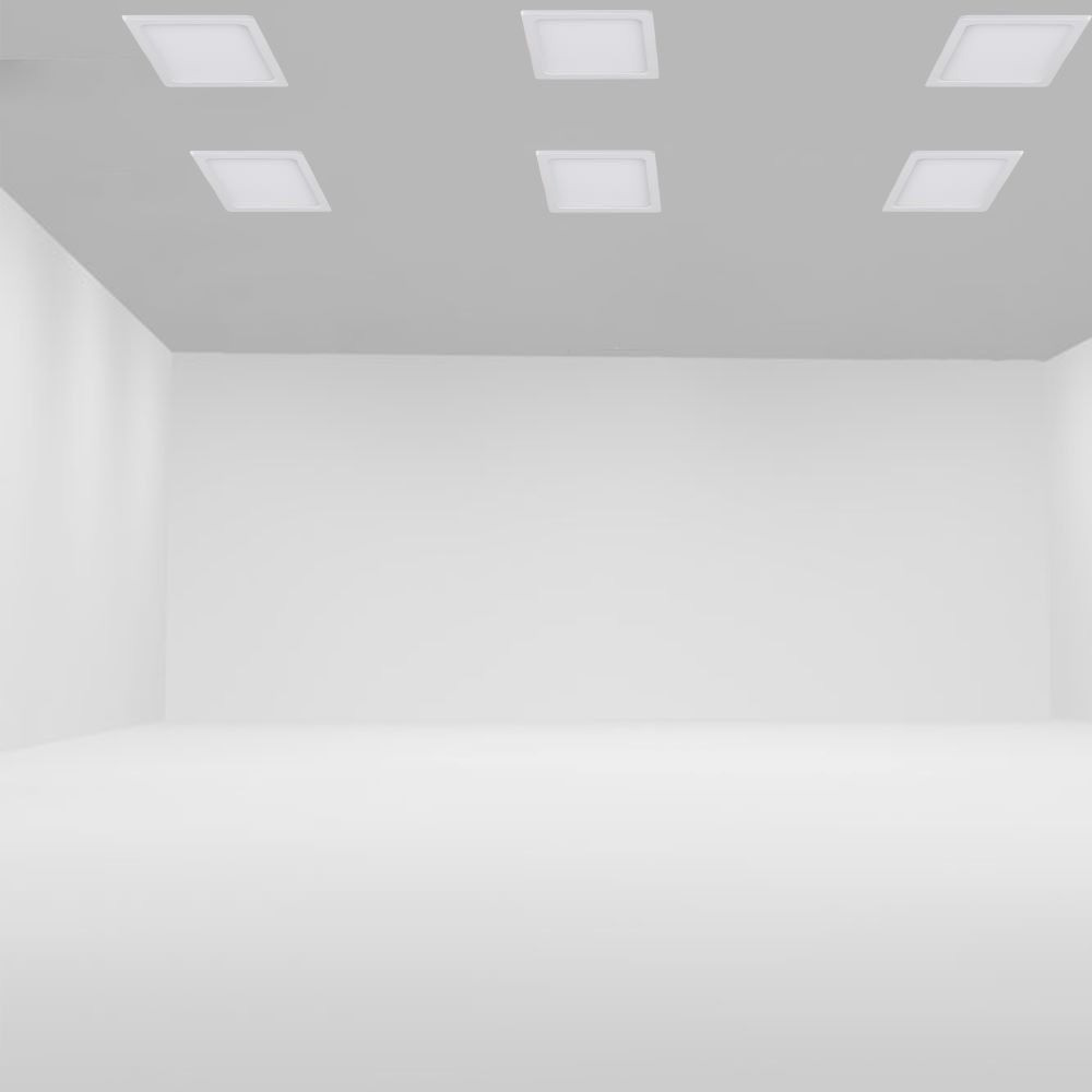 Panou LED Slim 8W, Patrat, 6000K