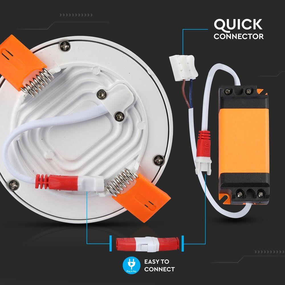 Panou LED Slim 22W, Rotund, 4200K