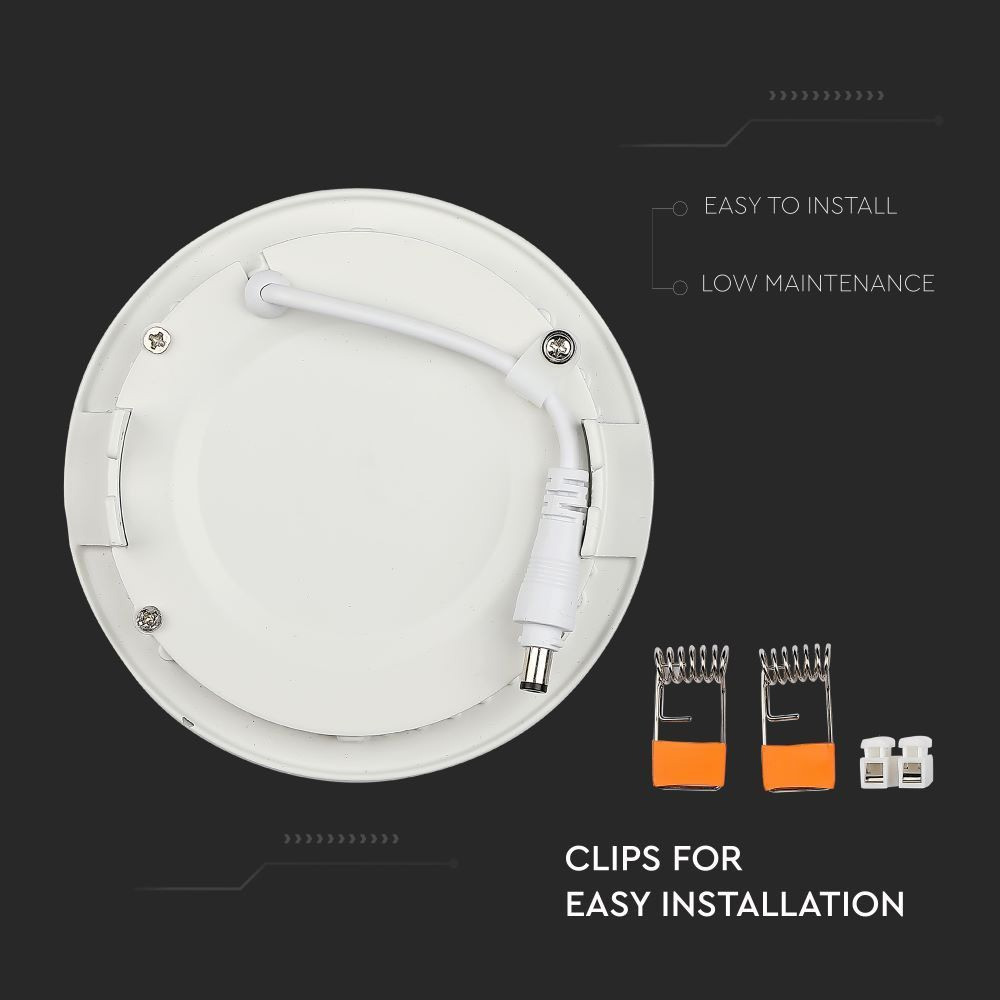 Panou LED Premium 18W - Rotund 6400K