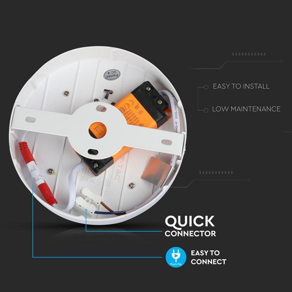 Panou LED 8W, Aplicabil, Rotund, 4500K