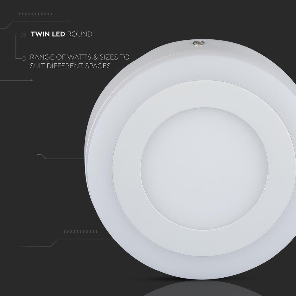 Panou LED 15W, Aplicabil, Rotund, 3000K