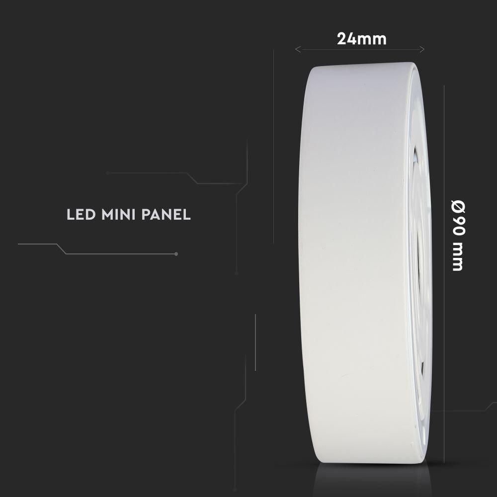 Panou LED 6W, Aplicabil Premium, Rotund, 4000K