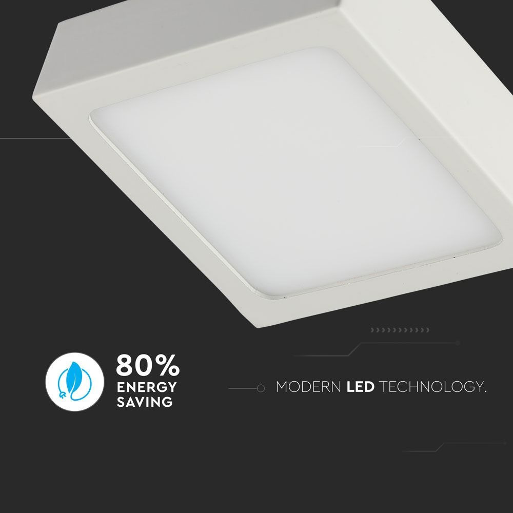 Panou LED 6W, Aplicabil Premium, Patrat, 6400K