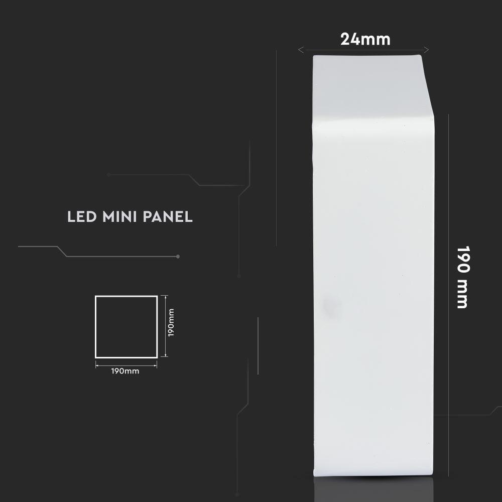 Panou LED 18W, Aplicabil, Premium, Patrat, 6000K