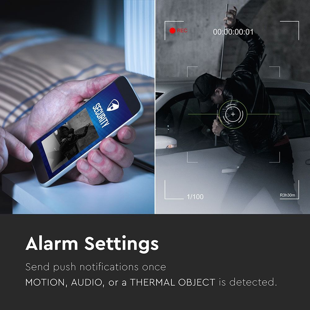 Proiector LED 18W cu WIFI, Senzor si Camera 6000K