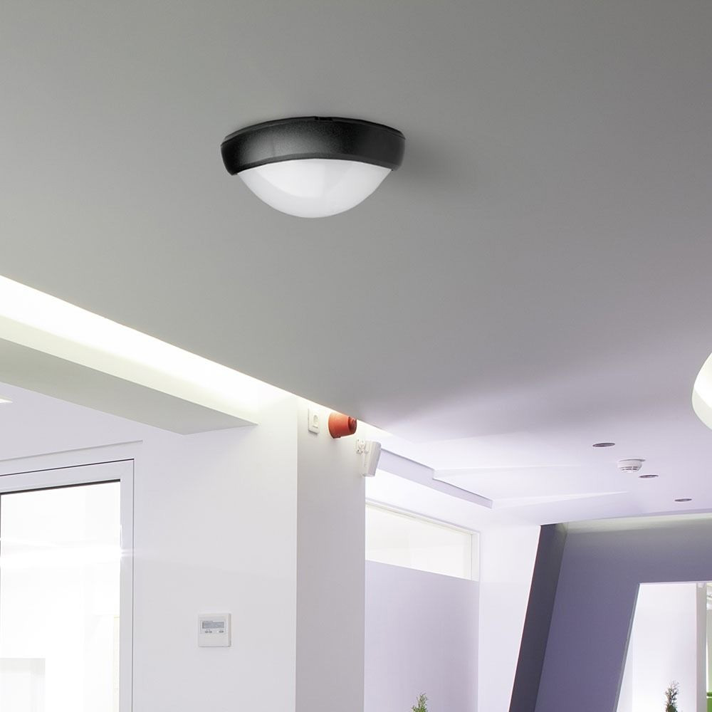 Aplica LED 12W, Ovala Corp Negru IP66 4000K