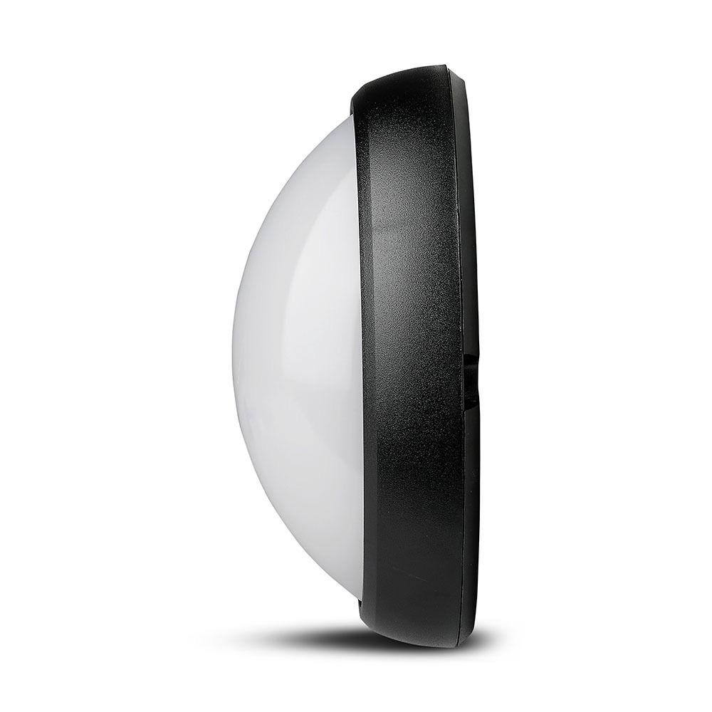 Aplica LED 12W, Ovala Corp Negru IP66, 6000K