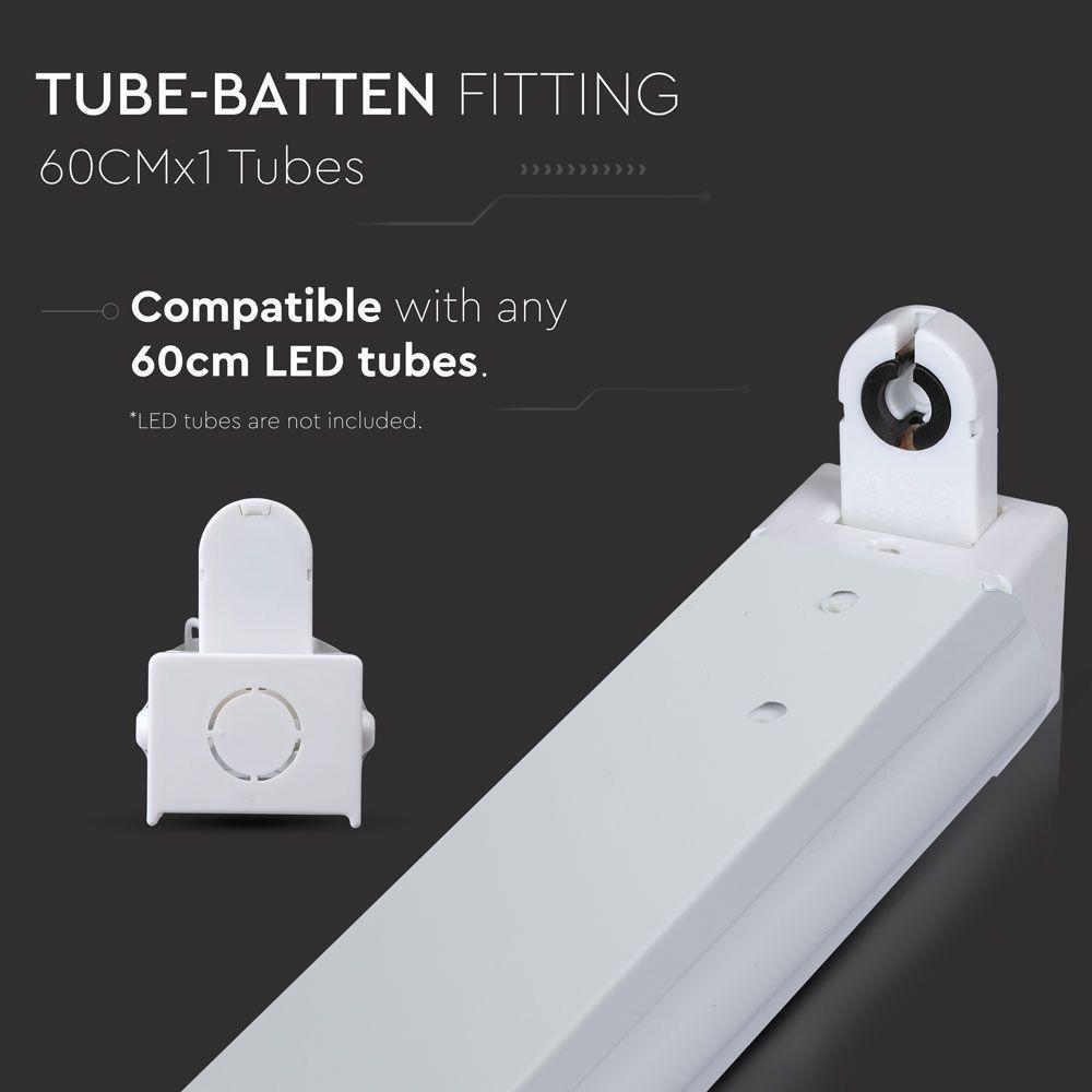 Corp pentru Tub T8 Aplicat, 60 cm