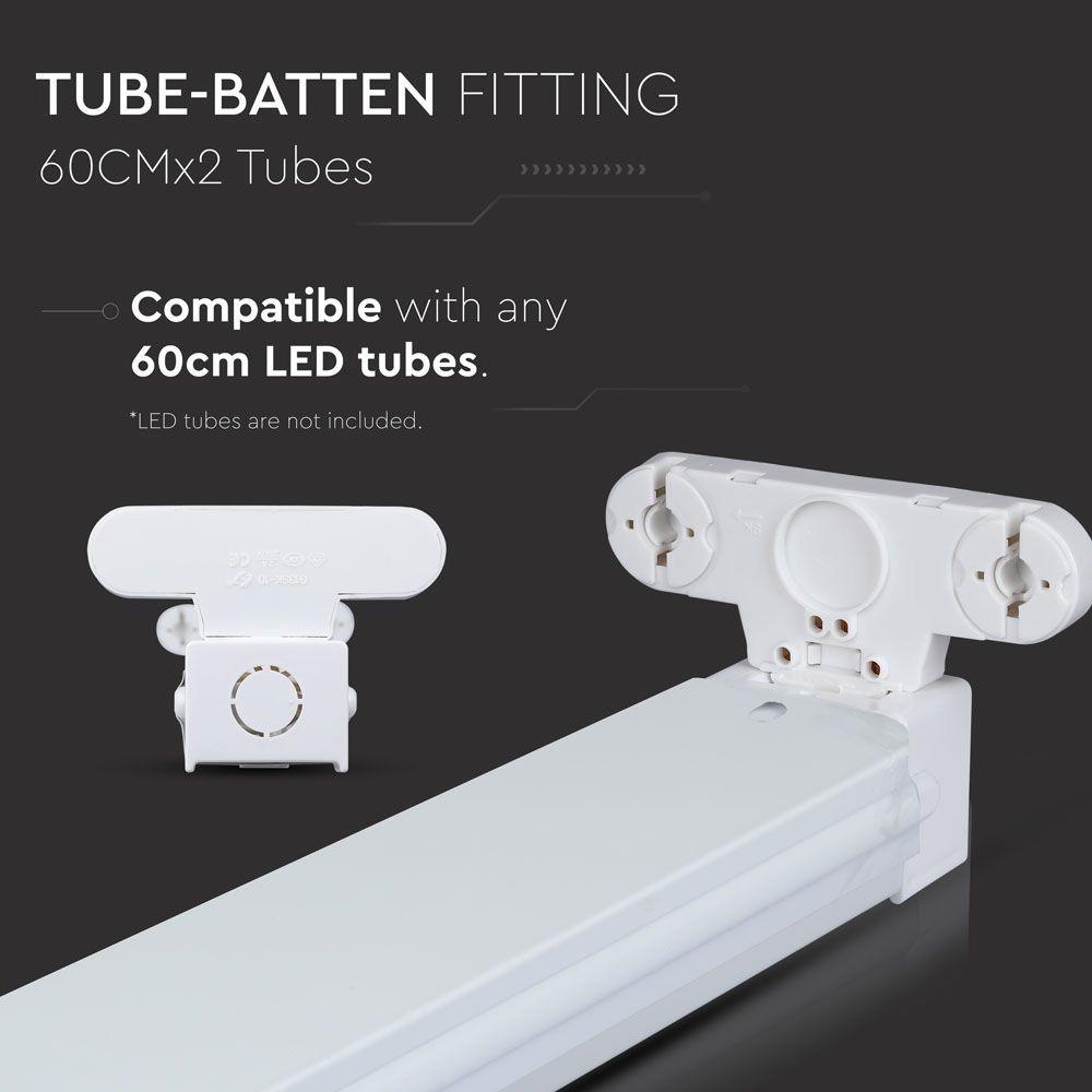 Corp pentru Tub T8 Aplicat 2*60 cm