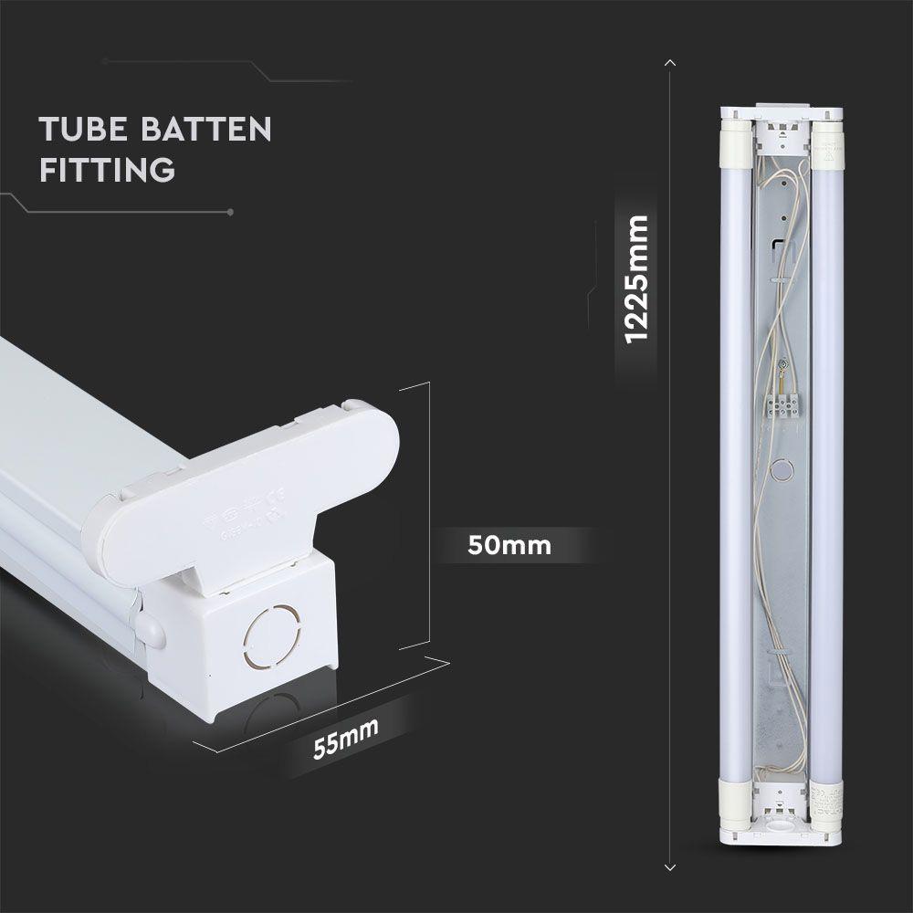 Corp pentru Tub T8 Aplicat 2*120 cm
