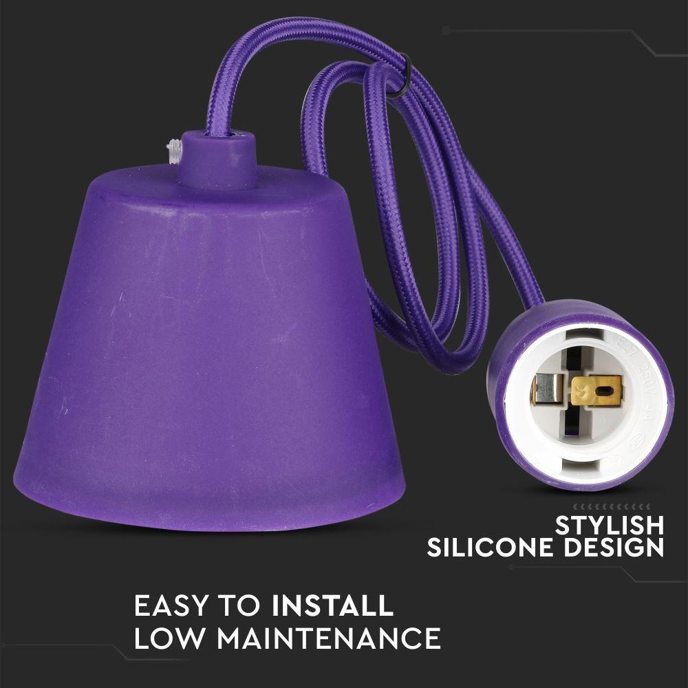 Corp Iluminat Suspendat E27 Violet