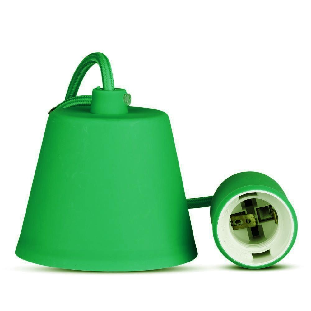 Corp Iluminat Suspendat E27, Verde