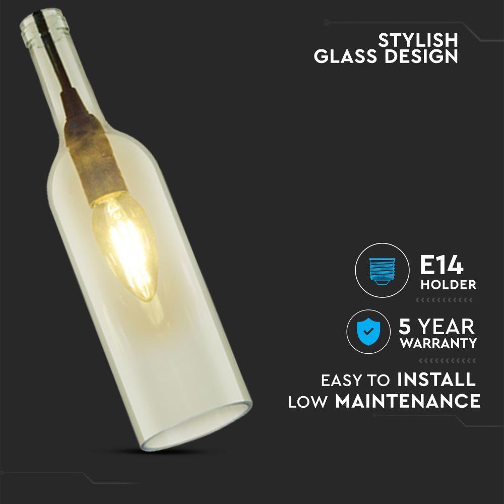 Corp Suspendat De Iluminat E14 Tip Sticla-Transparent