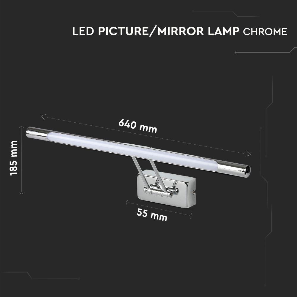 Lampa LED 12W pentru Tablou/Oglinda Cromata, Lumina Naturala