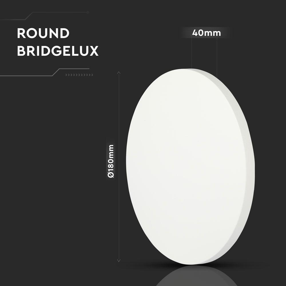 Lampa LED 9W Rotunda De Perete, Chip Bridgelux 4000K