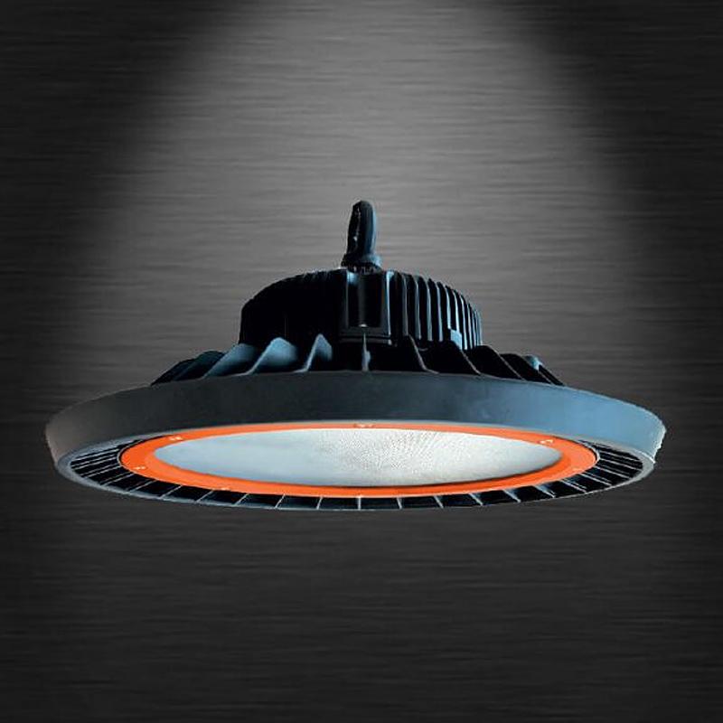 100W Proiector LED High Bay UFO Portocaliu, IP66, 5000K