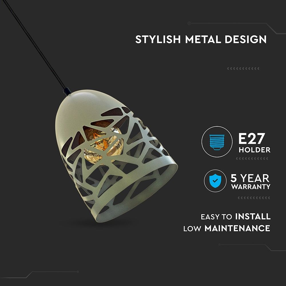 Pendant Light metalic Matt Gri, Dulie E27