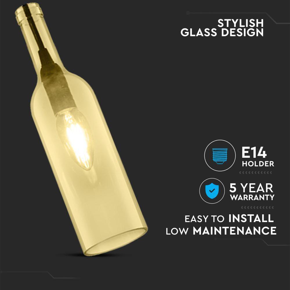 Pendant Bottle Light Amber Sticla E14