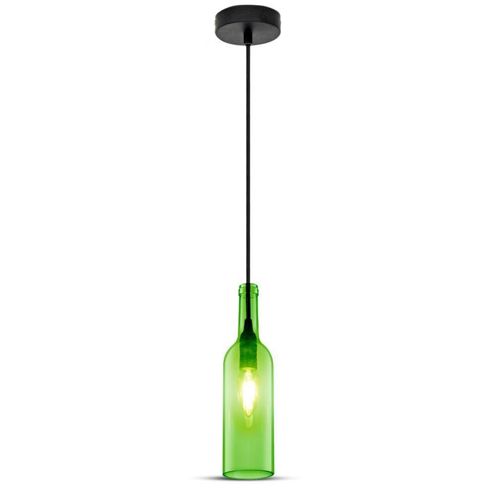 Pendant Bottle Light Green Sticla E14