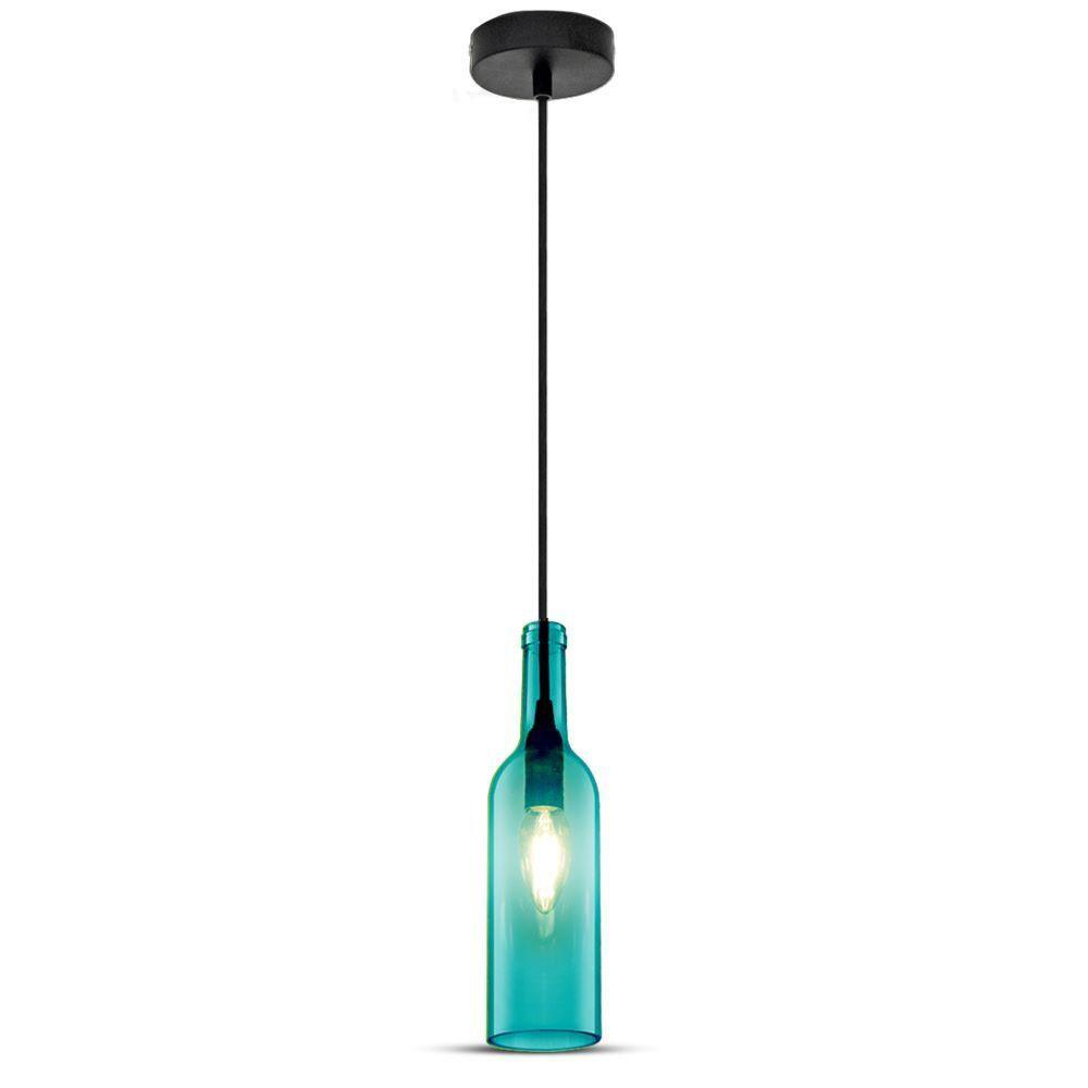 Pendant Bottle Light Blue Sticla E14