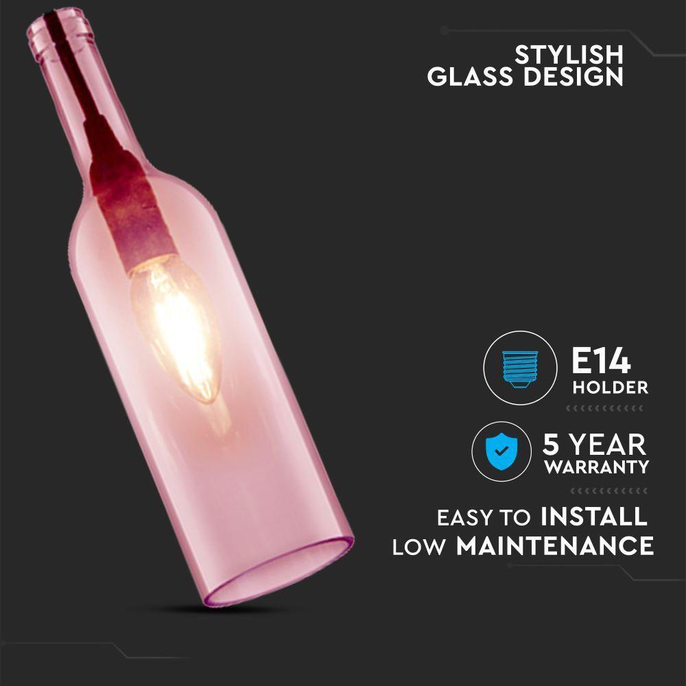 Pendant Bottle Light Pink Sticla E14