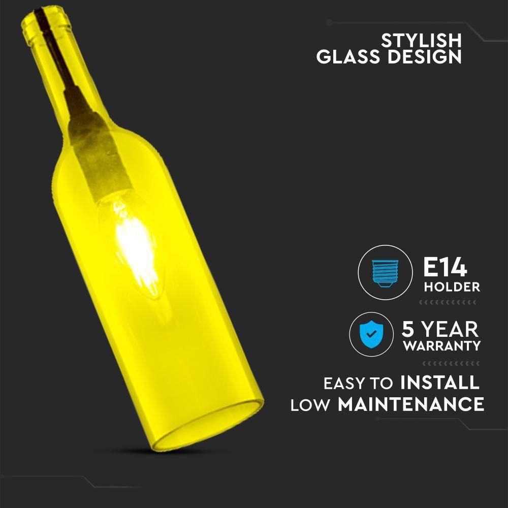 Pendant Bottle Light Yellow Sticla E14