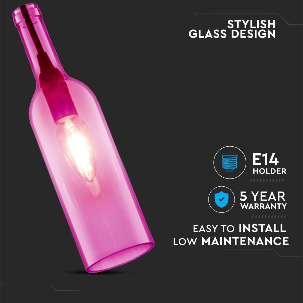Pendant Bottle Light Rose Sticla E14