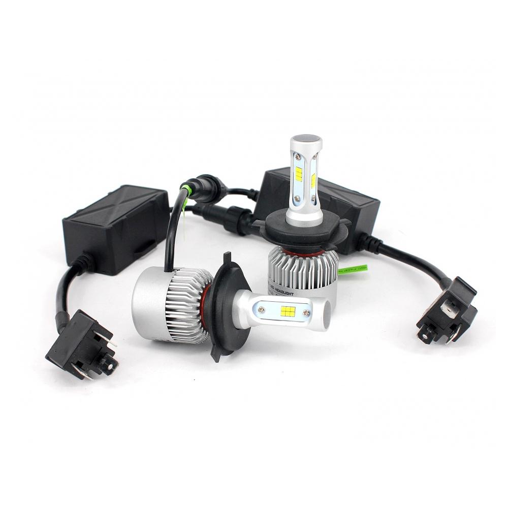 BEC LED pentru faruri AUTO H4, cu ventilator 8000lm, 6500K