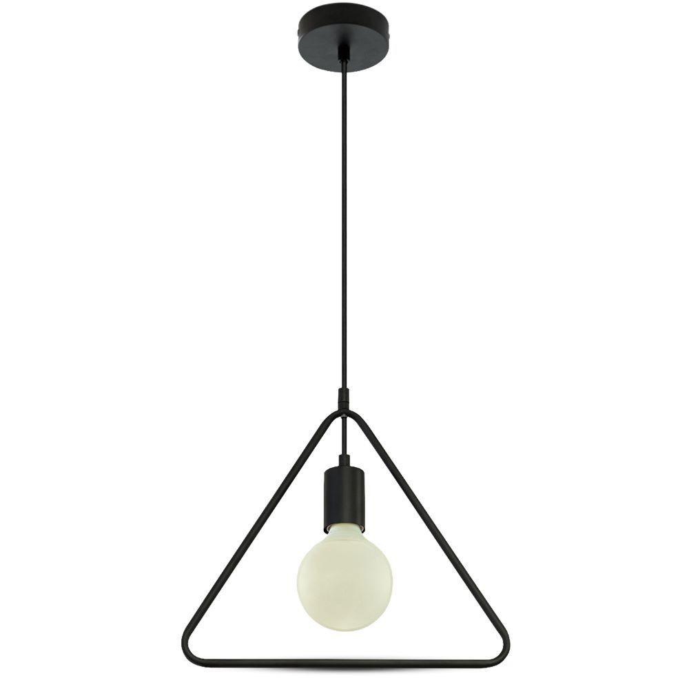 Pendul Geometric, negru mat, triunghi unic