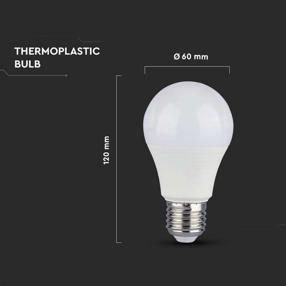 Bec LED 11W, E27, A60, Bulb Plastic Lumina Naturala 4000K
