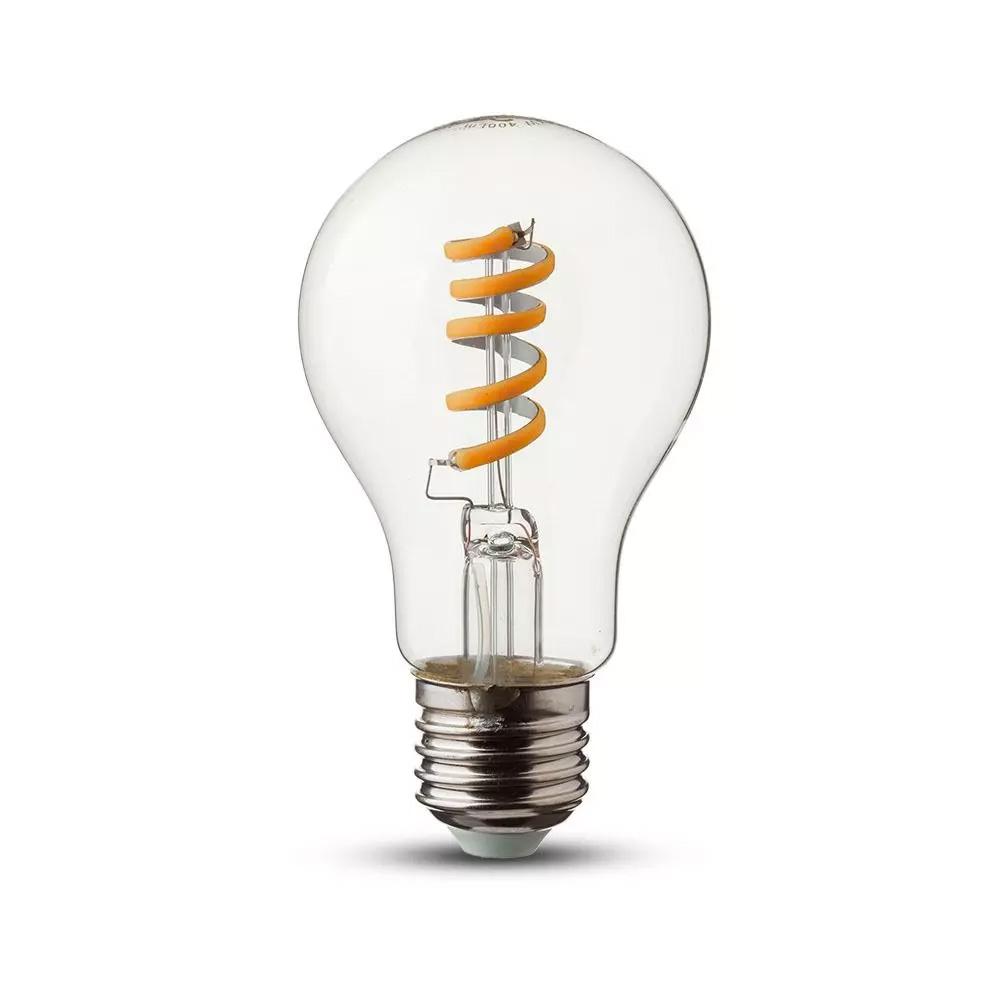 Bec LED Clar 4W, E27, 2200K, Filament Spirala