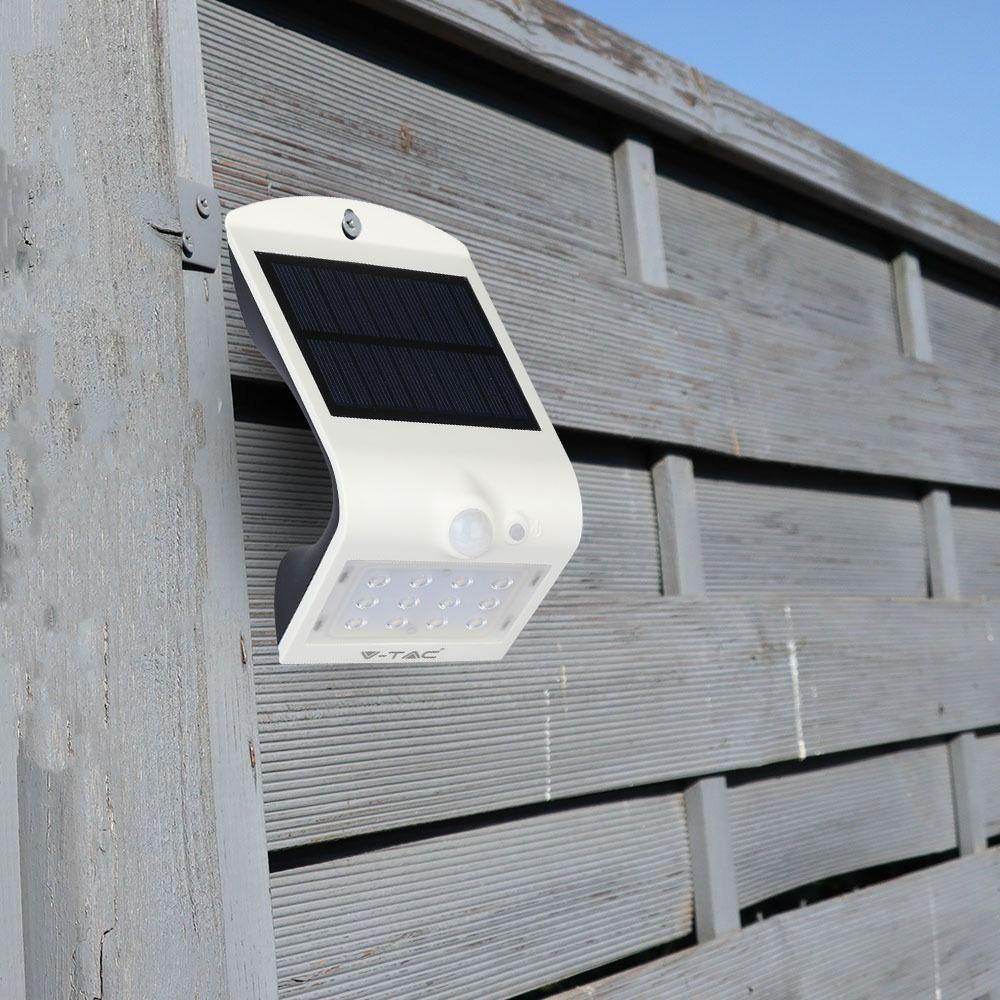 LED Aplica Solara 1.5W, 4000K+4000K Corp Alb/Negru