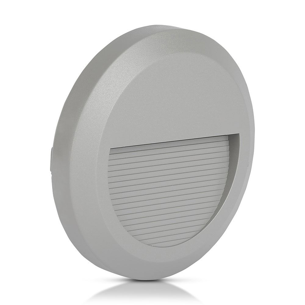 Lampa LED Pentru Scara 2W, 4000K, Corp Gri Rotund