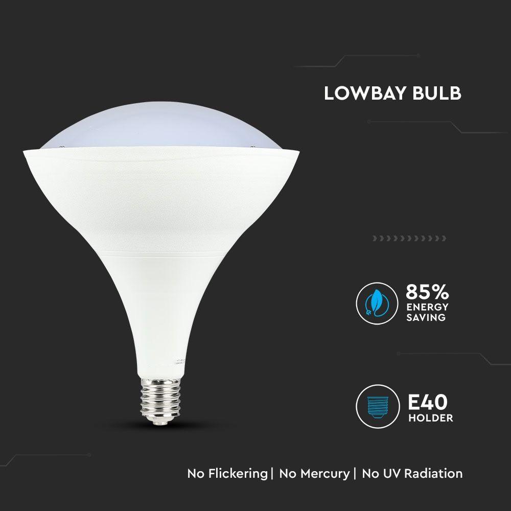 Bec LED 85W, E40 Low Bay Alb Rece 6400K cu Cip Samsung