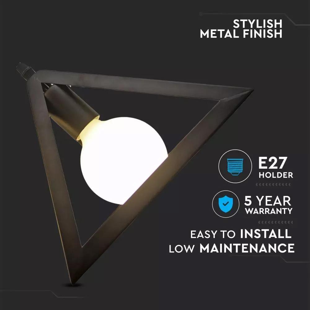 Pendant Geometric Trio, E27, Negru