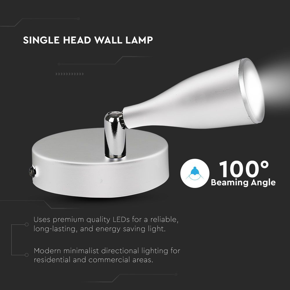 Lampa LED de Perete 4.5W, Lumina Naturala, Corp Alb