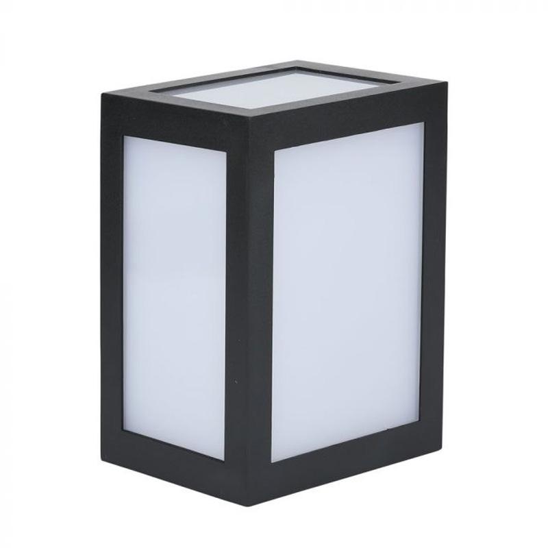 Lampa LED de Perete 12W, Corp Negru, Lumina Calda 3000K