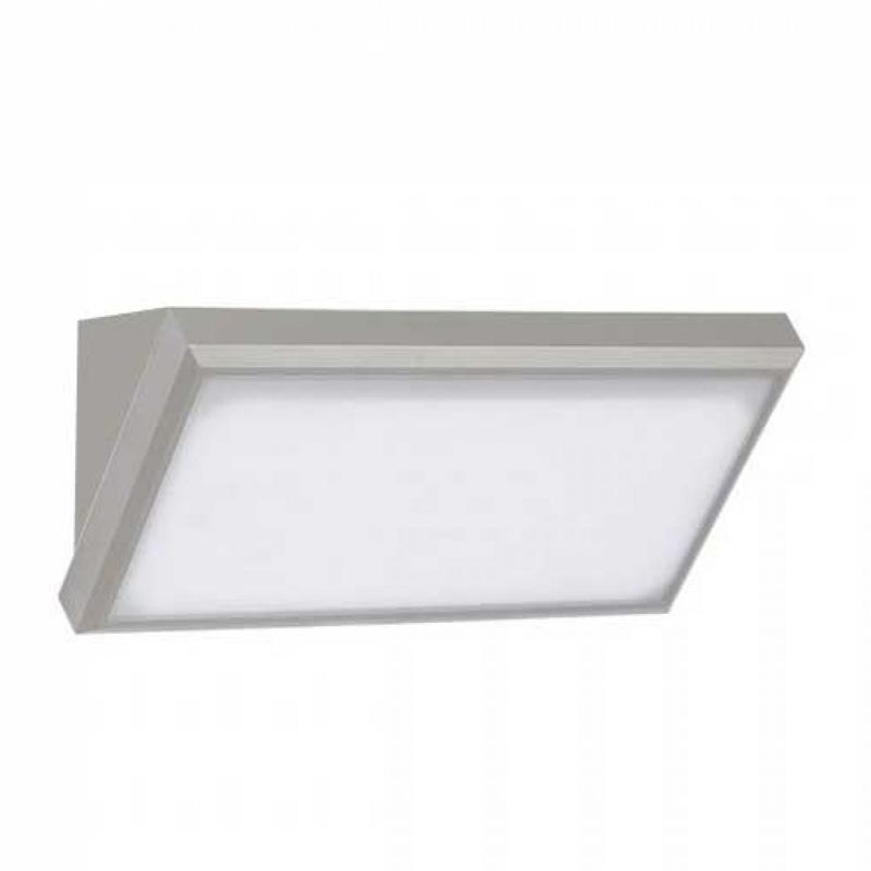 Lampa LED de Exterior cu Lumina Difuza 12W, Corp Gri, Lumina Calda (3000K)