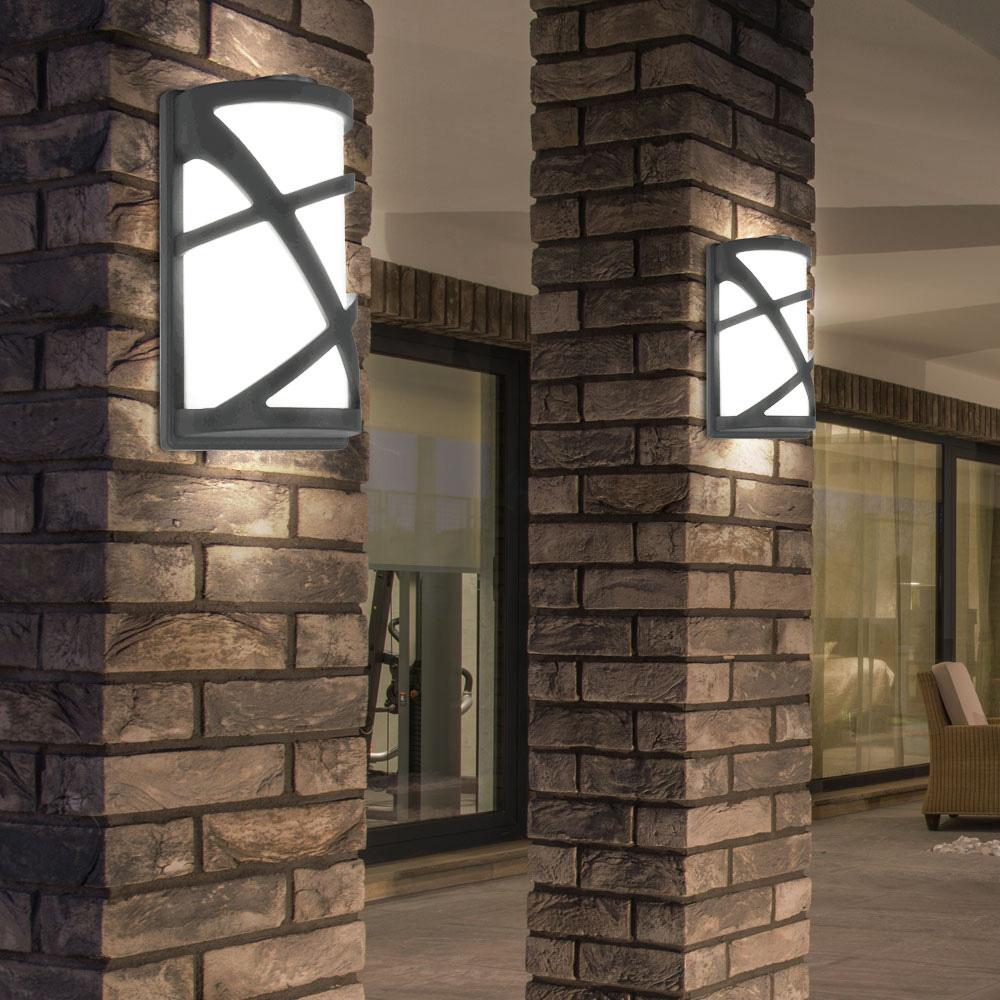 Lampa de Gradina cu Prindere Perete, Soclu E27, Corp Gri