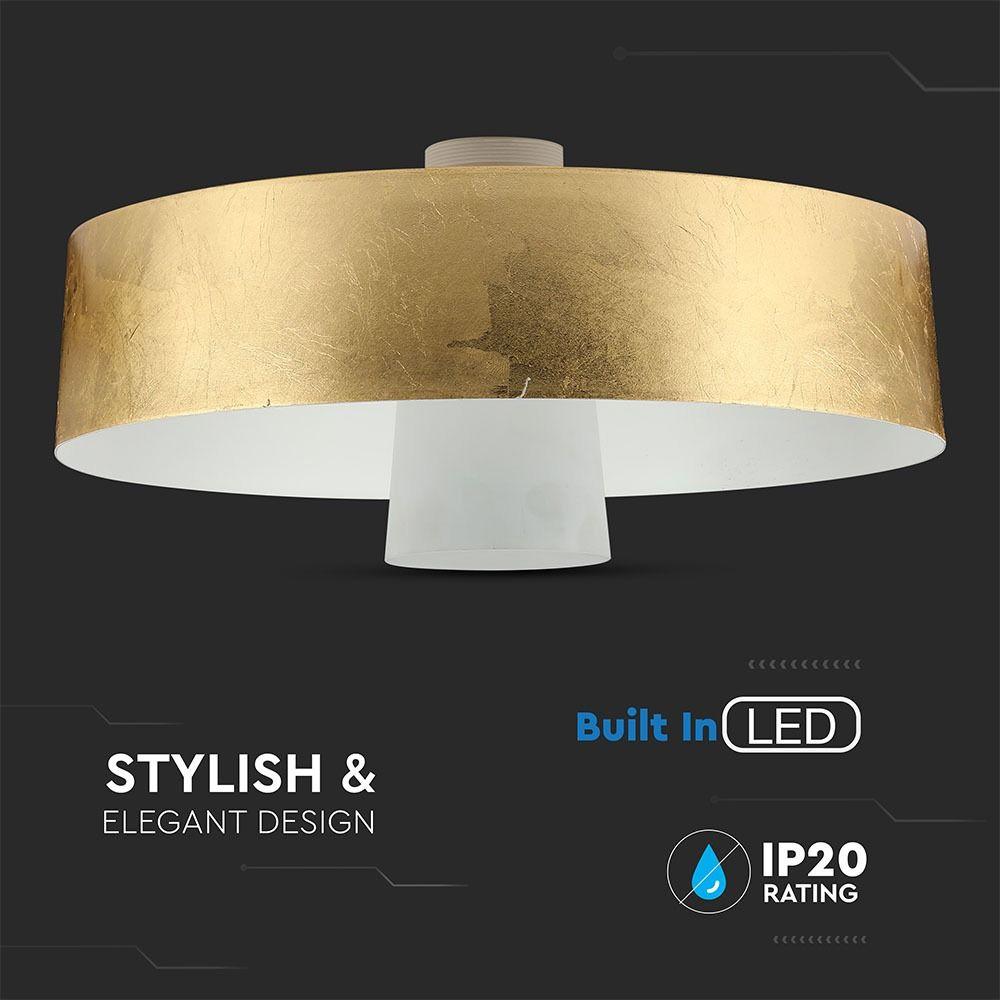 Pendul LED 7W, Abajur Auriu, Ø340x190mm, Lumina neutra