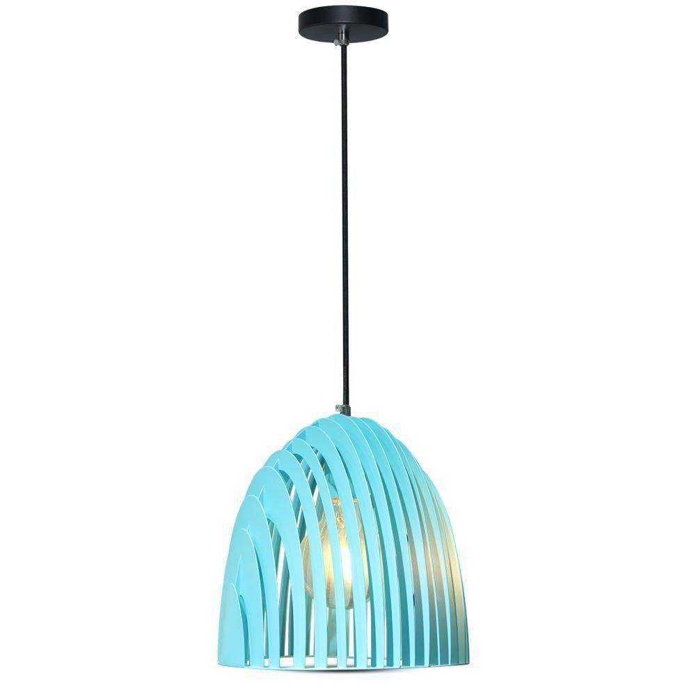 Pendant Light Cone Prism Albastru