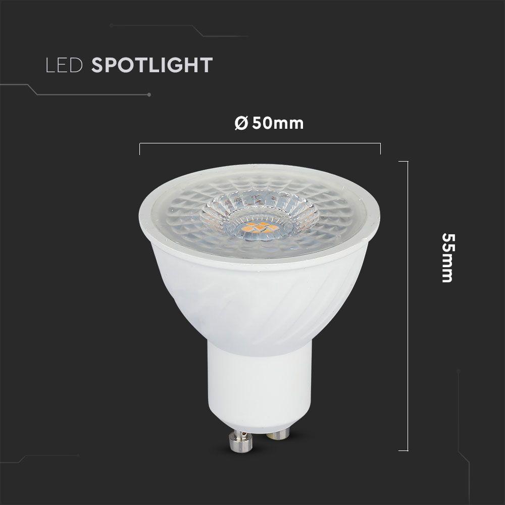 Bec LED GU10, 6.5W, Lumina Naturala 4000K cu Cip Samsung