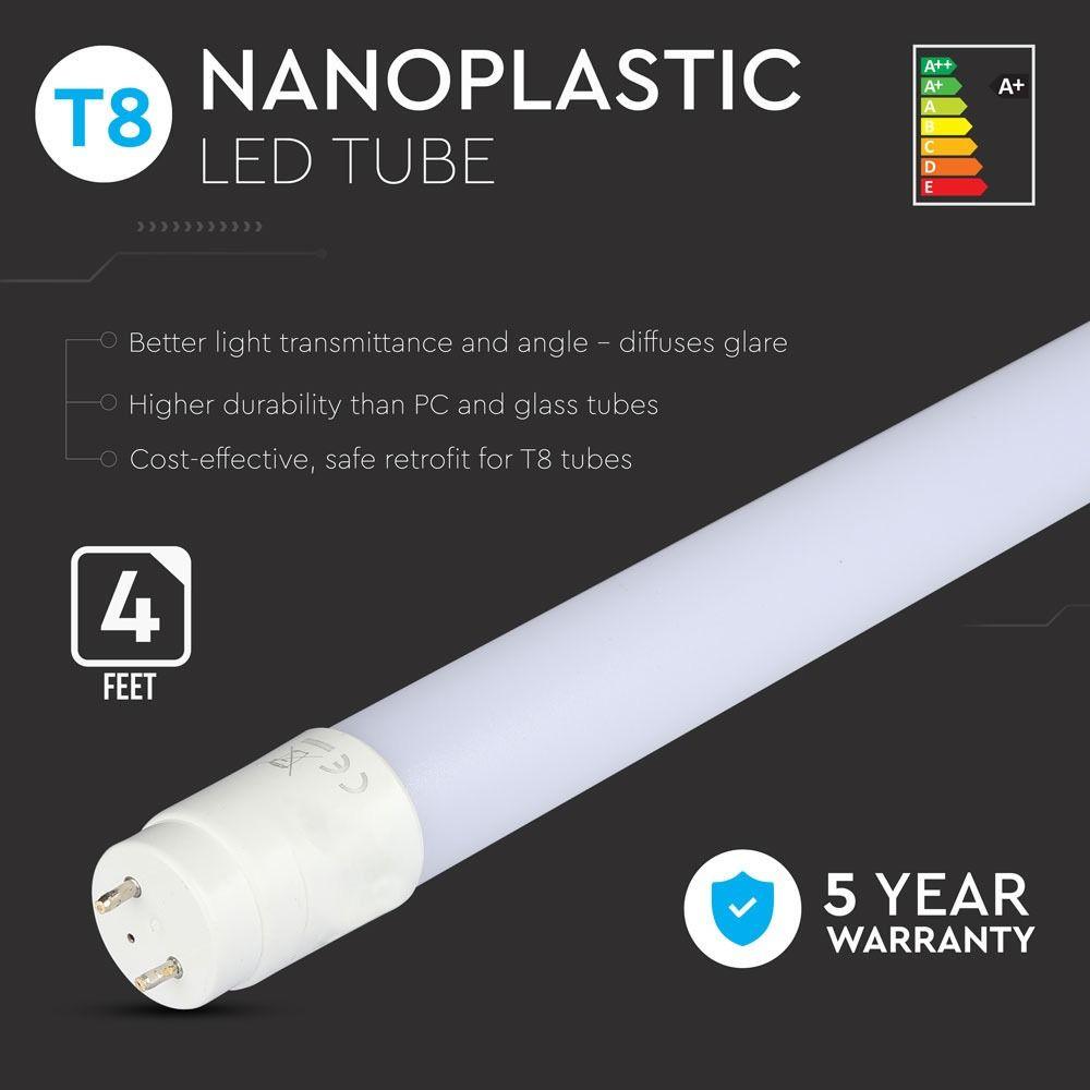 Tub LED 18W, T8, G13, Nano Plastic, 120cm, Lumina Naturala 4000K cu Cip Samsung