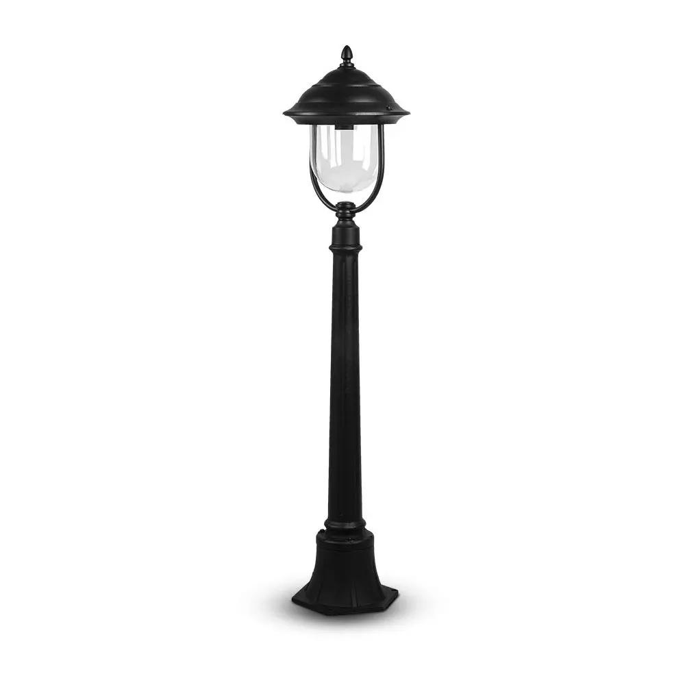 Lampa de Gradina, 1 x E27, 1.1m, Corp Negru