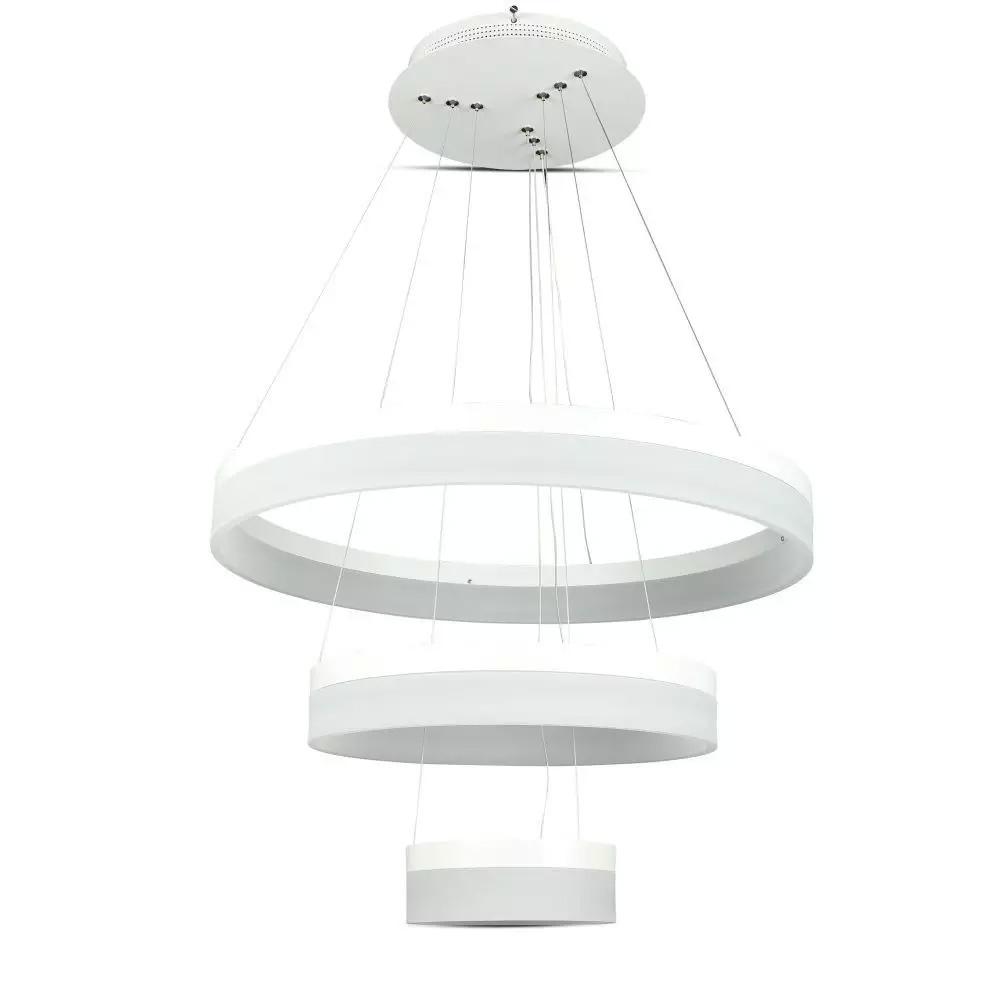 Lustra Moderna 80W cu 3 Inele LED, Ø200 / Ø400 / Ø600 mm, Lumina Calda 3000K