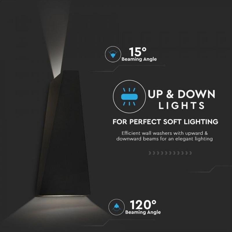 Lampa LED 6W, Corp Negru, Lumina Naturala (4000K) IP65