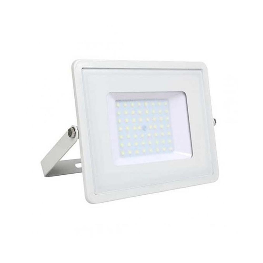Proiector LED 50W, Corp Alb, Lumina Calda cu Cip Samsung