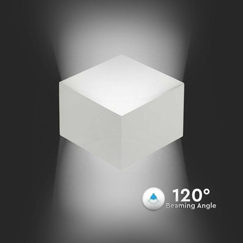 Lampa LED de Perete 3W cu CIP Bridgelux, Corp Alb, Lumina Calda (3000K)